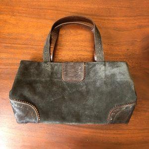 Adrienne Vittadini Suede & Mohair Handle Bag